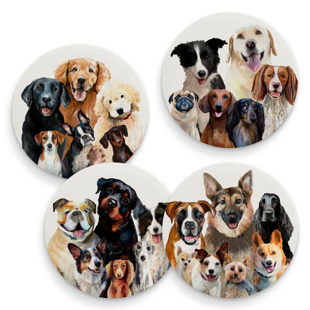 Best Friend dog bunch coaster set