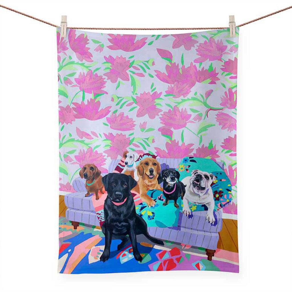 Dog Tales tea towels