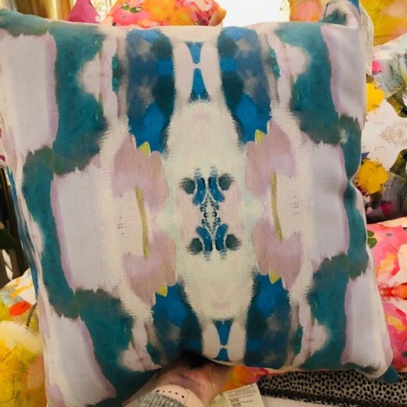 Flower Child Emerald Outdoor Pillow 20x20