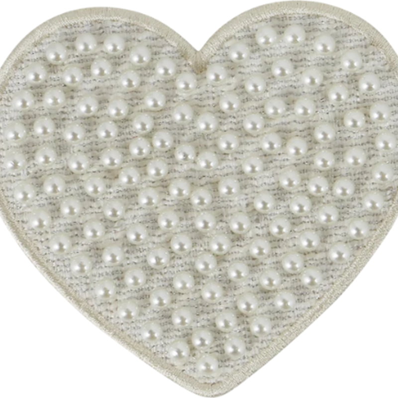 Cozy Pearl Heart patch