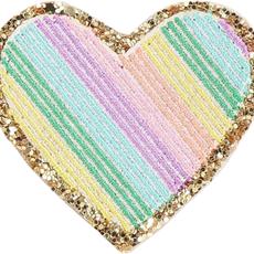 Rainbow glitter heart