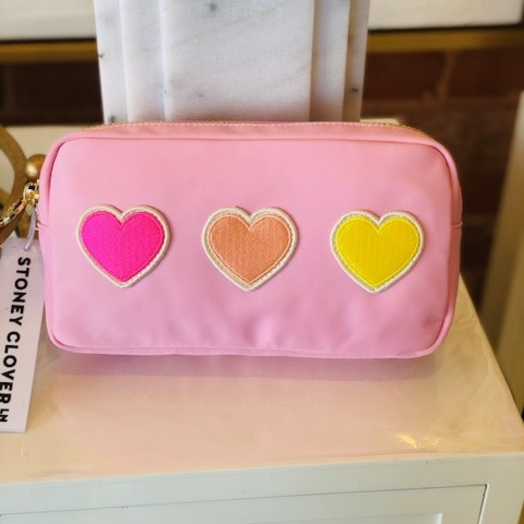SCL-PSS-015 flamingo small pouch w hearts