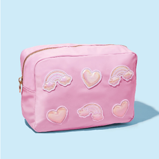 SCL-PSL-010 Flamingo large pouch w puffy iridescent