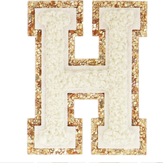Glitter Adhesive Letter Patches
