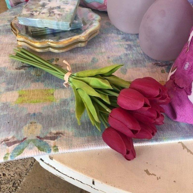 "13.5"" Fuchsia Real touch mini tulip bundle"