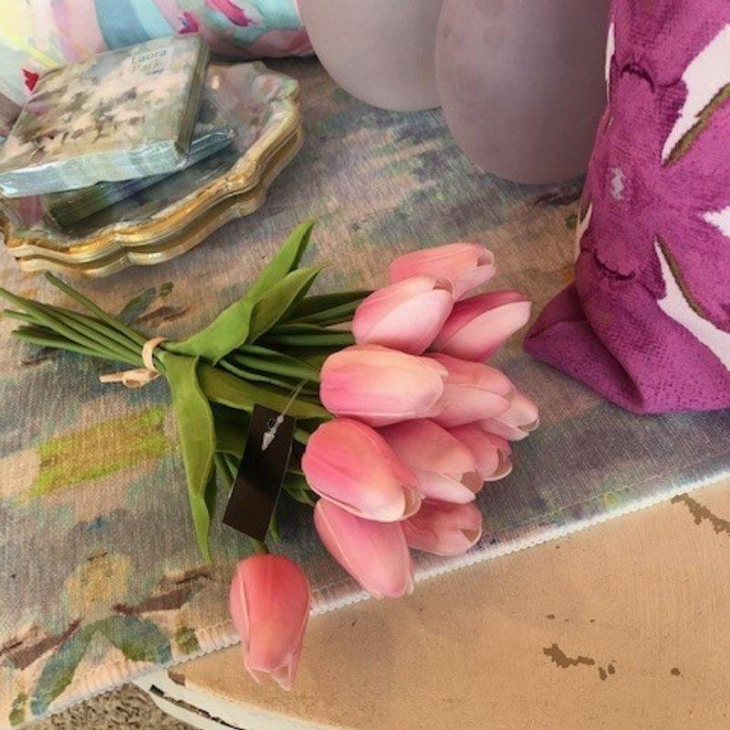 "11399b-pk 13.5"" pink real touch mini tulip bundle"
