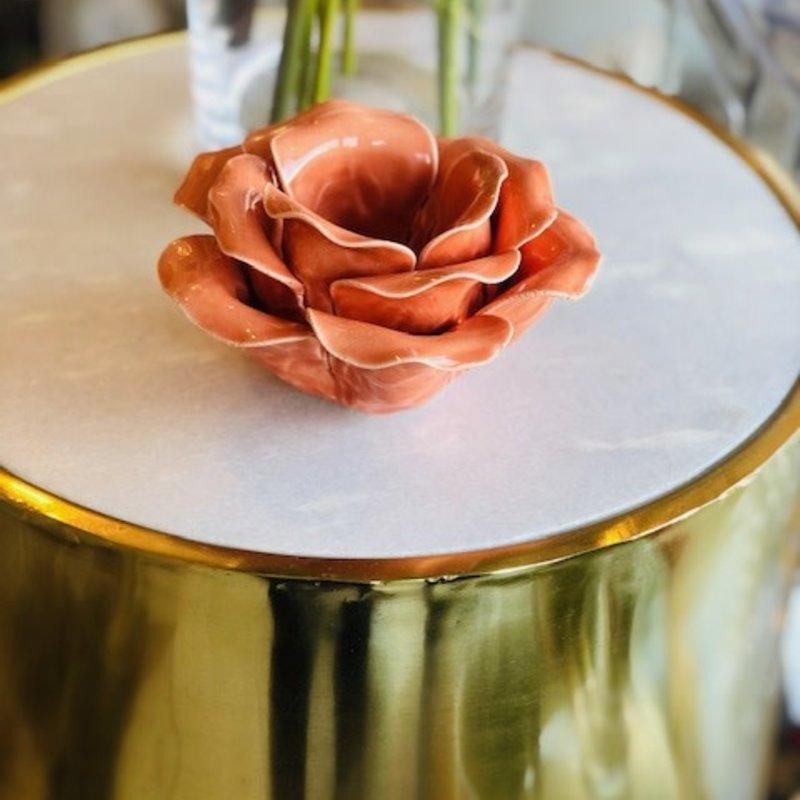 418-10168 petal blossosm coral tealight holder