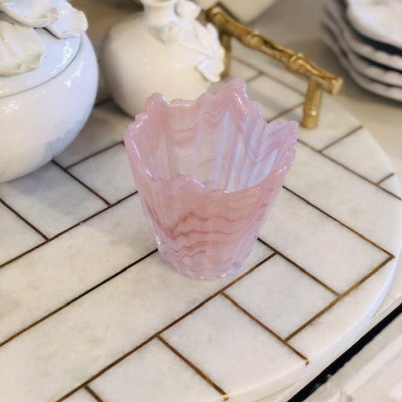 411-10002 alabaster blush votive candle holder