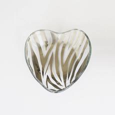 """CSH603p 5"""" Heart Bowl - Zebra"""
