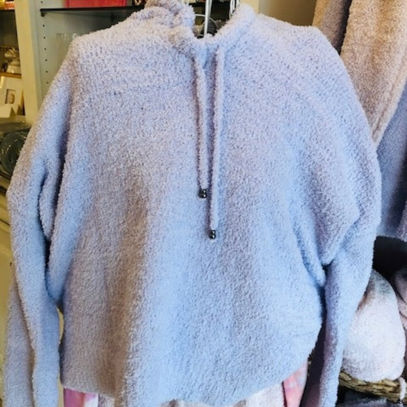 Purple heather drawstring hoodie SMALL