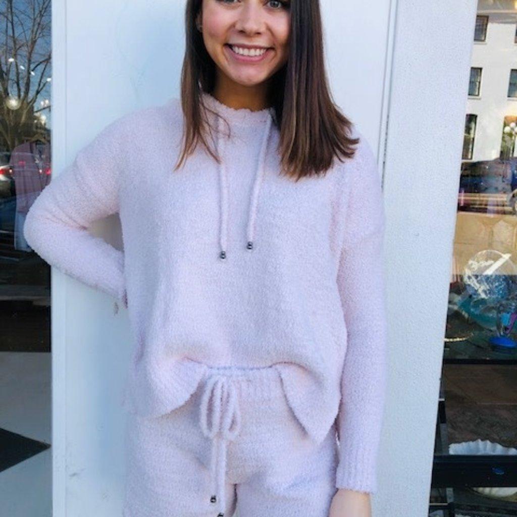 Pink drawstring hoodie SMALL