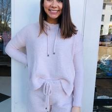 Pink drawstring hoodie MEDIUM