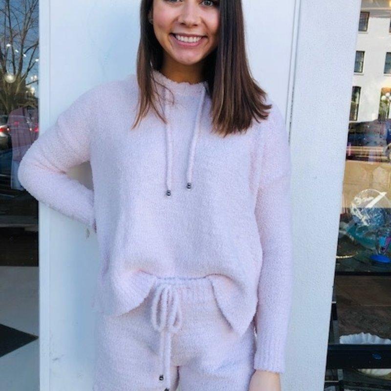 Pink drawstring hoodie LARGE