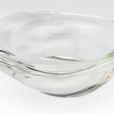 XY122BW/L crystal glass free form bowl - large