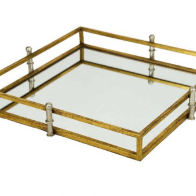 fxt105 Square gold and silver tray