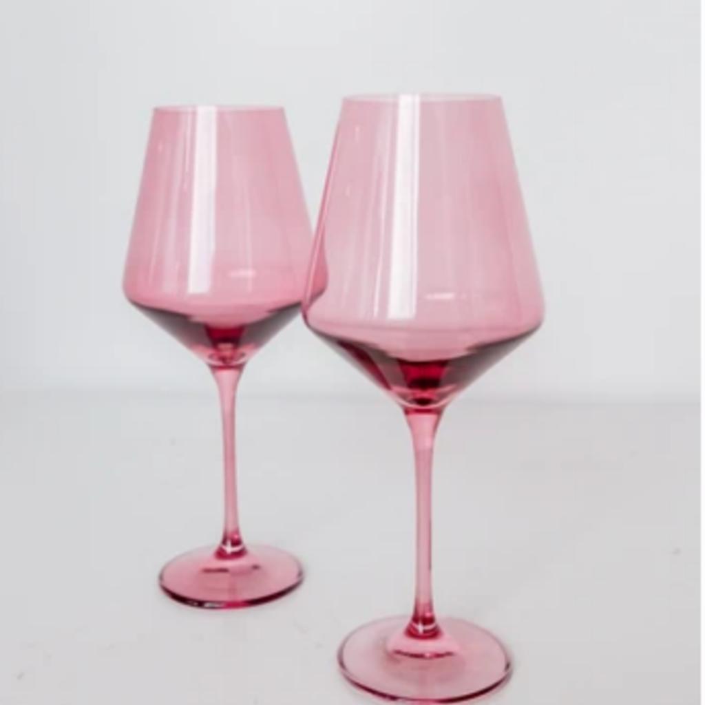 Rose Stemmed Wine Glass