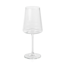 Textured wine glass