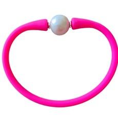 Hot Pink Freshwater Pearl Maui Bracelet