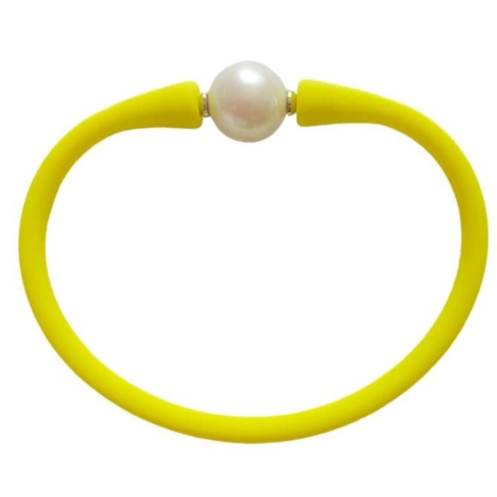 Fluorescent Chartreuse Freshwater Pearl Maui Bracelet
