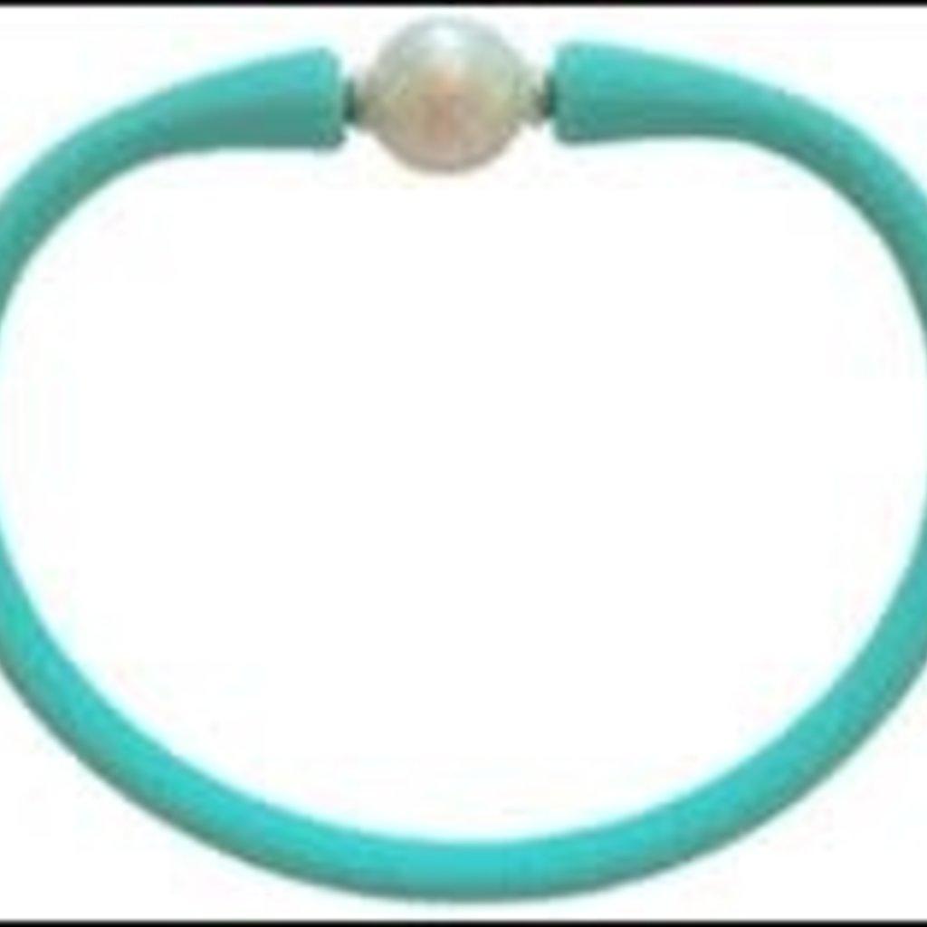 Aqua Freshwater Pearl Maui Bracelet
