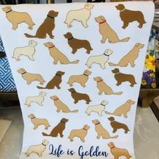 Life is Golden Hand Towel