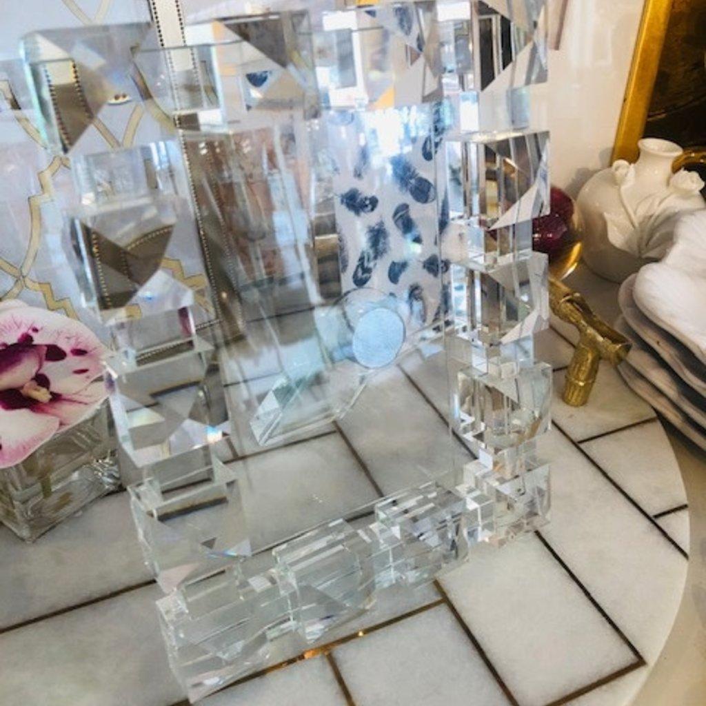 4x6 crystal glass frame - SQ diamond