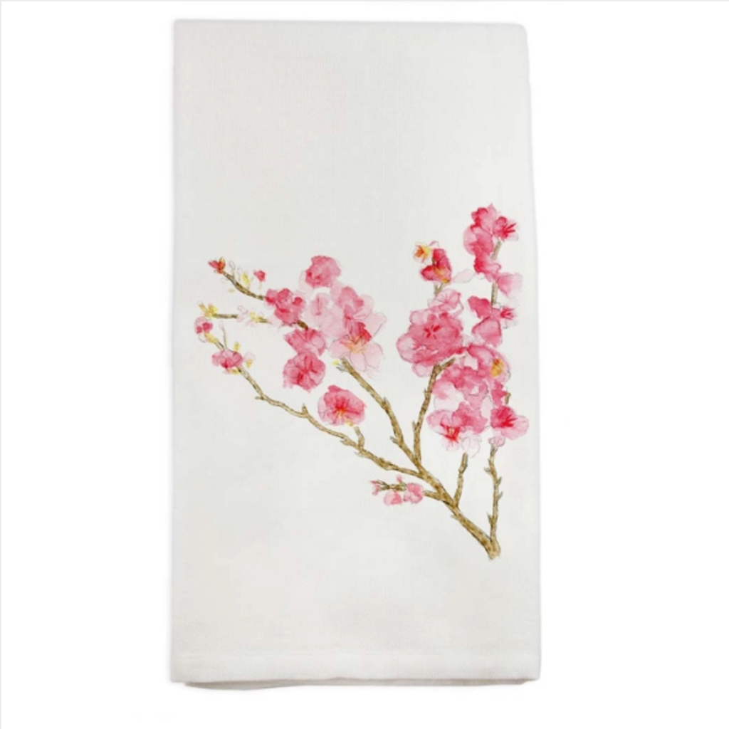 Cherry Blossom Dish Towel