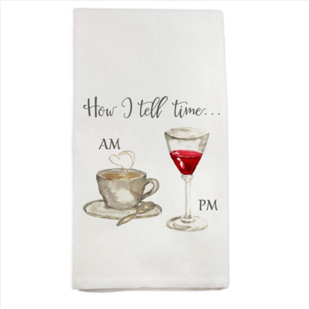 How I Tell Time Dishtowel