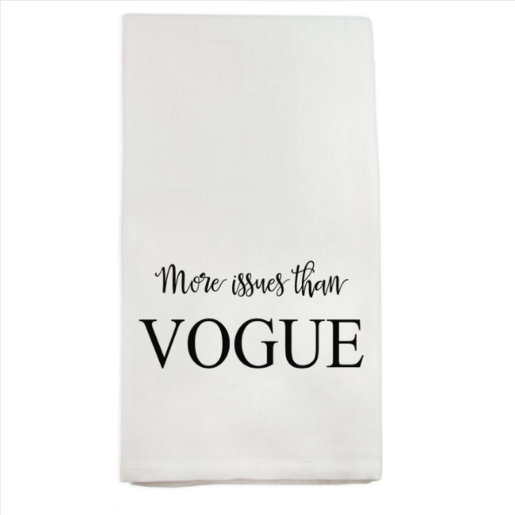 More Issues than Vogue dishtowel