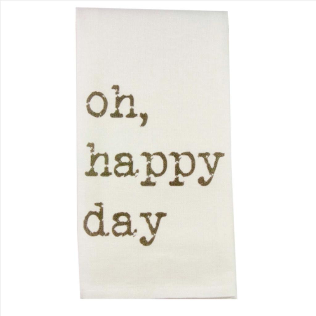 Oh Happy Day Dishtowel