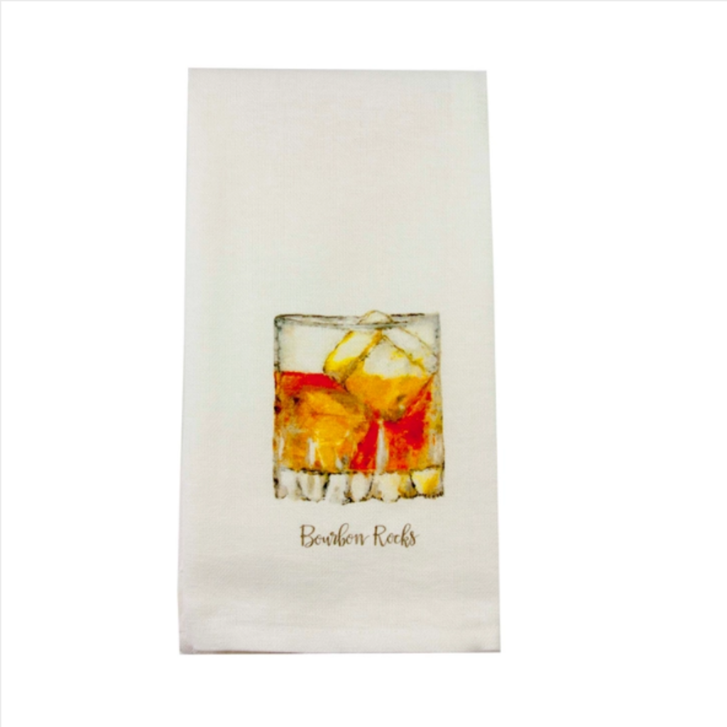Whiskey Rocks dishtowel