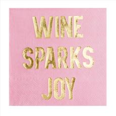 """Wine Sparks Joy"" Cocktail Napkins - 20 Pk."