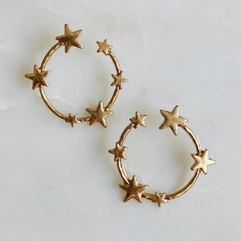 Circle of Stars Earring