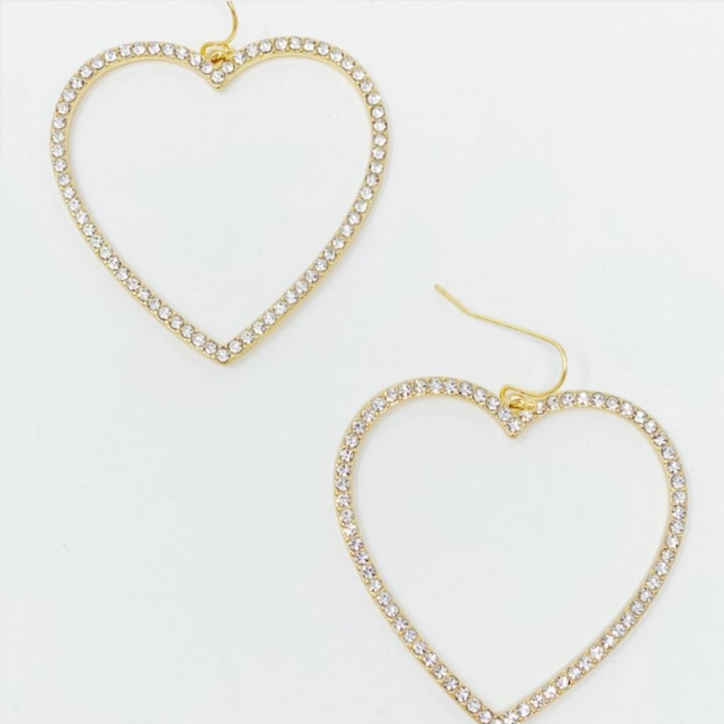 My Precious Heart Earrings, Gold