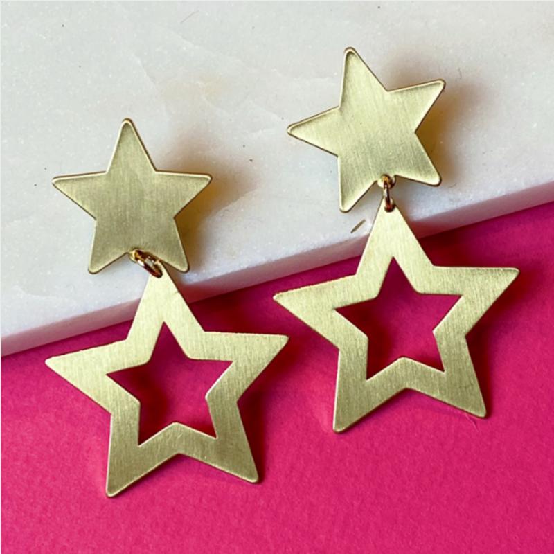 Lucky Stars tiered earrings