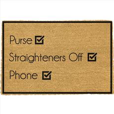 Purse, Straighteners , Phone Doormat