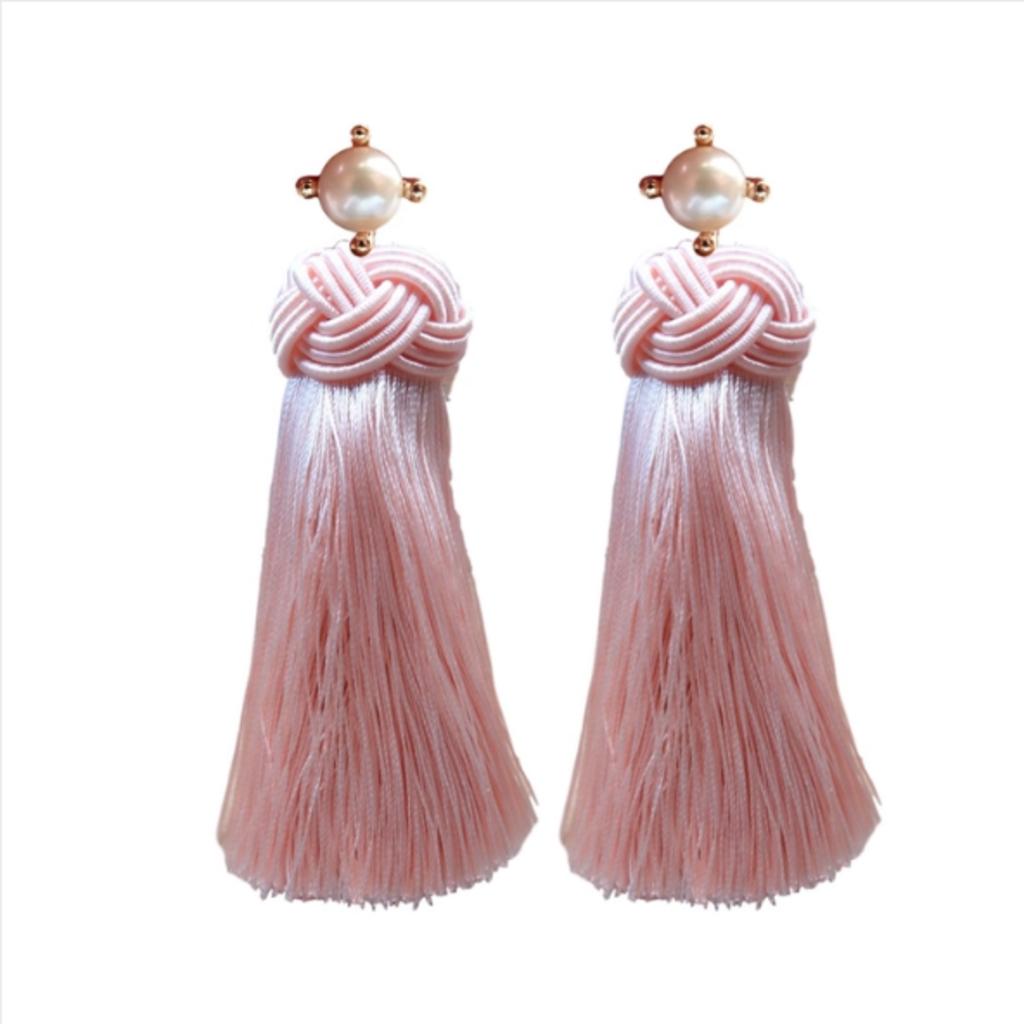 Pearl Tassels - Pink Champagne