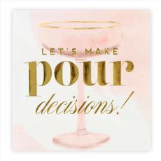 Let's Make Pour Decisions, Champagne Cocktail Party Napkins