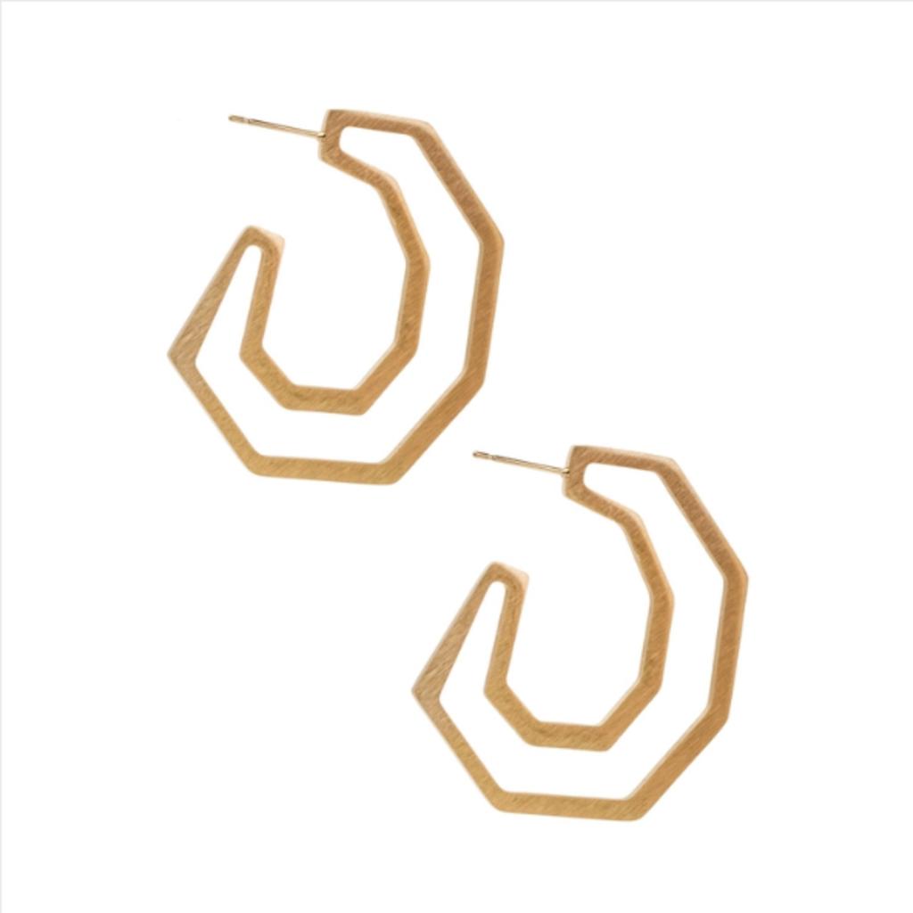 Angled Hoop Earring