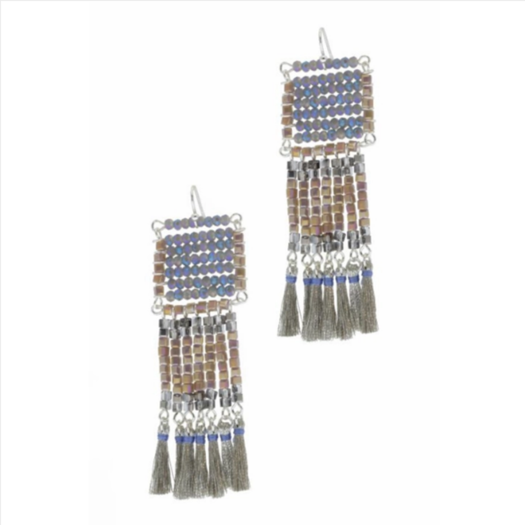 Anjuna Statement Earring - blue