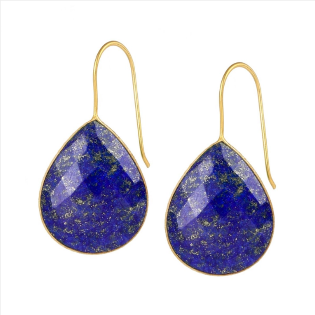 Drop Gemstone Earring  NAVY