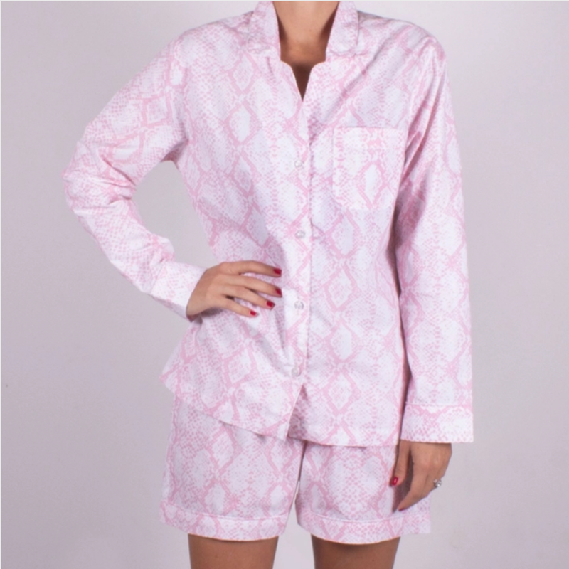 Pink Croc - Short & Top PJ Set Medium
