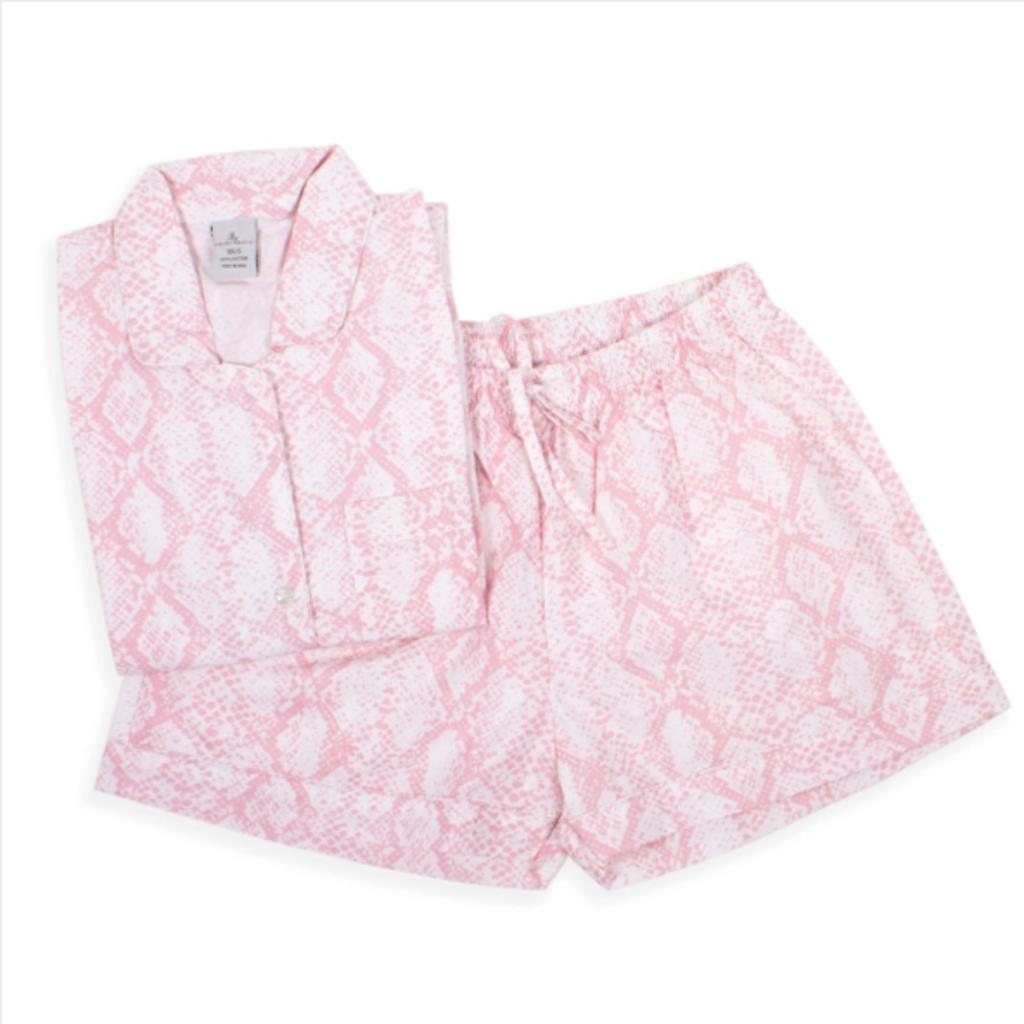 Pink Croc - Short & Top PJ Set XS/S