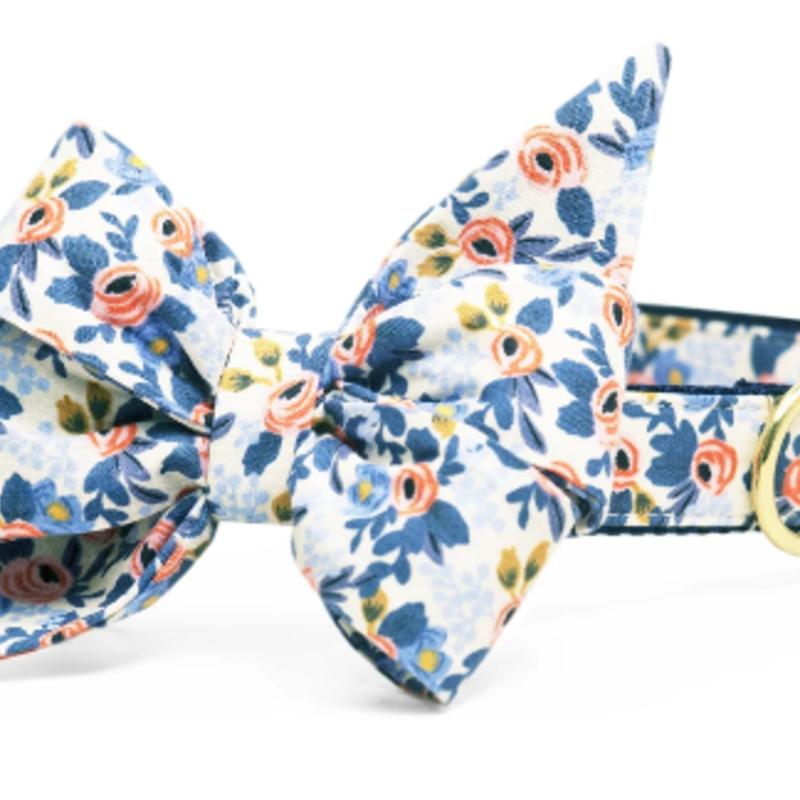 Navy Les Fleurs belle bow LARGE