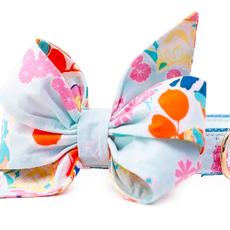 Powder Blue petals belle bow collar LARGE