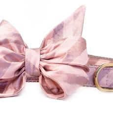 Rose gold stripe belle bow collar LARGE