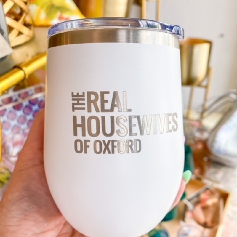 12 Oz  Real housewives tumbler- white