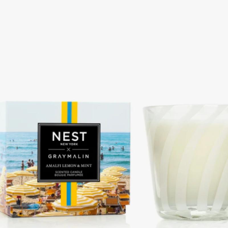 Nest x Gray Amalfi Lemon & Mint 3 wick candle