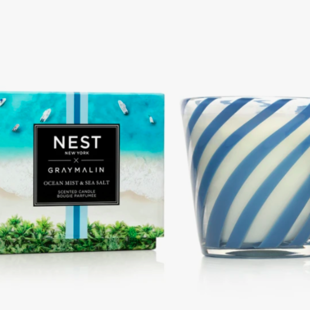 Nest x Gray Ocean Mist & Sea Salt 3-wick candle