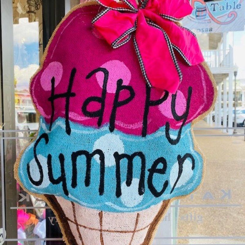 Ice Cream Cone Doorhanger